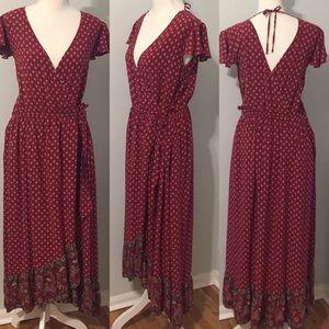 Xhilaration Boho / Western High-Low Maxi Dress
